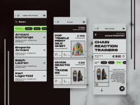 High-End Fashion Store - iOS App Design